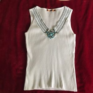 Belldini White with beads sz S